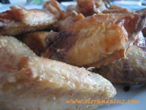 alitas de pollo fritas