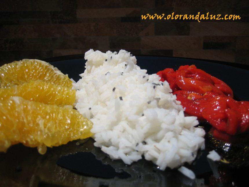 Ensalada nazarí de arroz