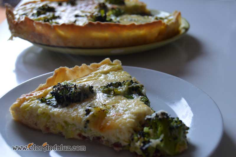 Quiché de brocoli y jamon