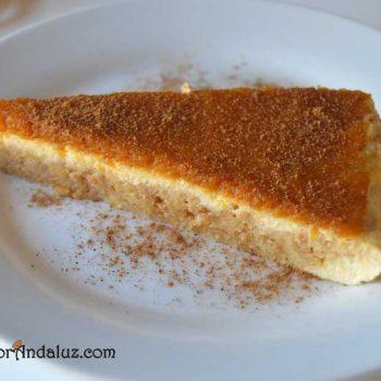 Pastel de queso con mermelada de calabaza